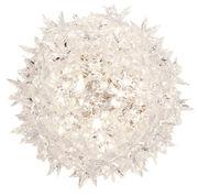Applique Bloom / Plafonier - Ø 28 cm - Kartell transparent en matière plastique