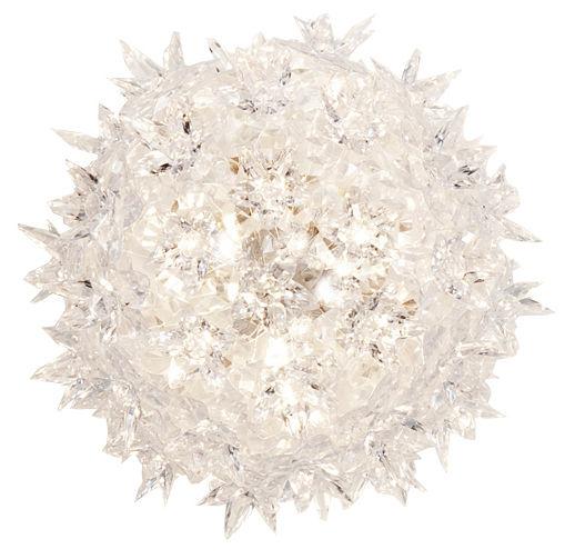 Luminaire - Appliques - Applique Bloom / Plafonier - Ø 28 cm - Kartell - Cristal - Polycarbonate