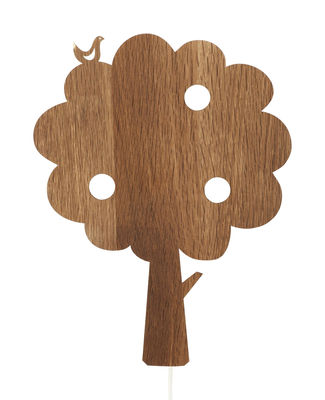 Interni - Per bambini - Applique con presa Tree di Ferm Living - Albero - Rovere