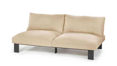 Mobilier - Canapés - Canapé droit / L 182 cm - Lin - Serax - Abricot / Noir - Aluminium peint, Lin