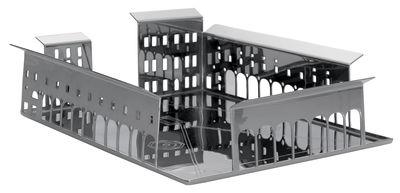 Centre de table 100 Piazze - Firenze - Driade Kosmo gris/argent en métal
