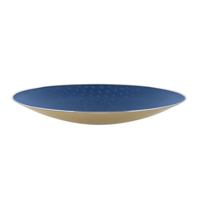 Tableware - Fruit Bowls & Centrepieces - Cohncave Centrepiece - Ø 49 cm / Alessi 100 Values Collection by Alessi - Ø 49 cm / Blue & yellow - Steel wire