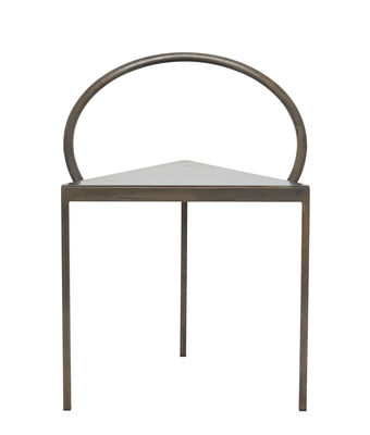 Furniture - Chairs - Triangolo Chair - / (1989) - Steel by Frama  - Black - Stained steel