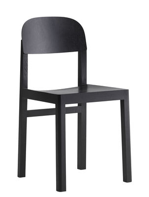 Furniture - Chairs - Workshop Chair - Wood by Muuto - Black - Lacquered oak