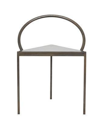 Mobilier - Chaises, fauteuils de salle à manger - Chaise Triangolo / (1989) - Acier - Frama  - Noir - Acier teinté