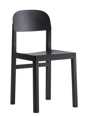 Mobilier - Chaises, fauteuils de salle à manger - Chaise Workshop / Bois - Muuto - Noir - Chêne laqué