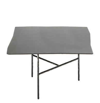 Furniture - Coffee Tables - XXX Large Coffee table - / 52 x 50 x H 33 cm by Opinion Ciatti - Black - Galvanised  nickel, Wrought iron