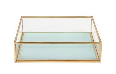 Coupelle / 16 x 16 cm - & klevering bleu ciel,transparent,laiton en métal