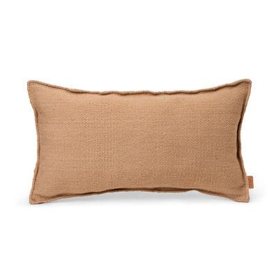 Coussin d'extérieur Desert / Bouteilles plastique recyclées - 53 x 28 cm - Ferm Living beige en tissu