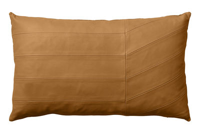 Decoration - Cushions & Poufs - Coria Cushion - Leather / 50 x 30 cm by AYTM - Amber - Cotton, Leather