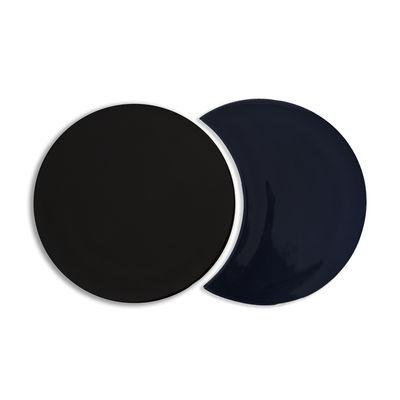 Dessous de plat Eclipse Céramique Set de 2 formes imbriquées Maison Sarah Lavoine noir,bleu broadway en céramique