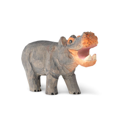 Decoration - Children's Home Accessories - Animal Figurine - / Hippo - Hand-carved wood by Ferm Living - Hippopotamus - Poplar wood