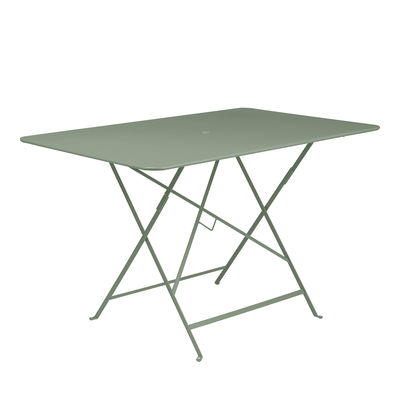 Outdoor - Garden Tables - Bistro Foldable table - / 117 x 77 cm - 6 people - Parasol hole by Fermob - Cactus - Painted steel