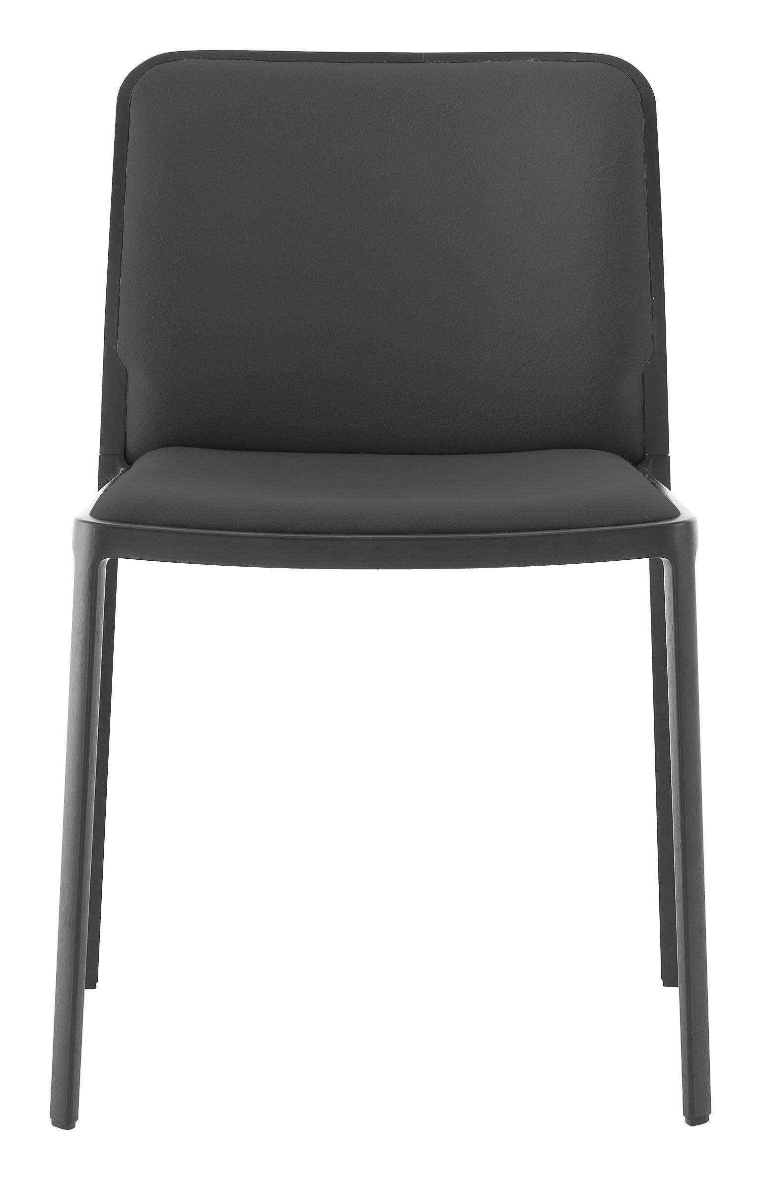 Möbel - Stühle  - Audrey Soft Gepolsterter Stuhl / Sitzfläche aus Stoff - Gestell lackiert - Kartell - Gestell: schwarz / Sitzfläche: Stoff schwarz - Gewebe, lackiertes Aluminium