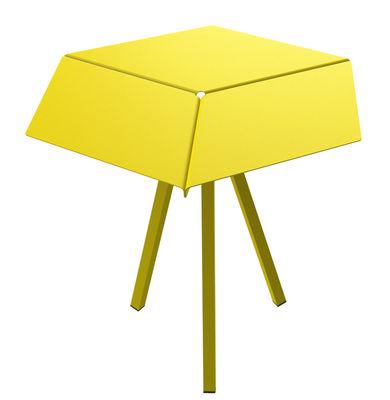Guéridon Kuban / H 60 cm - Matière Grise jaune en métal