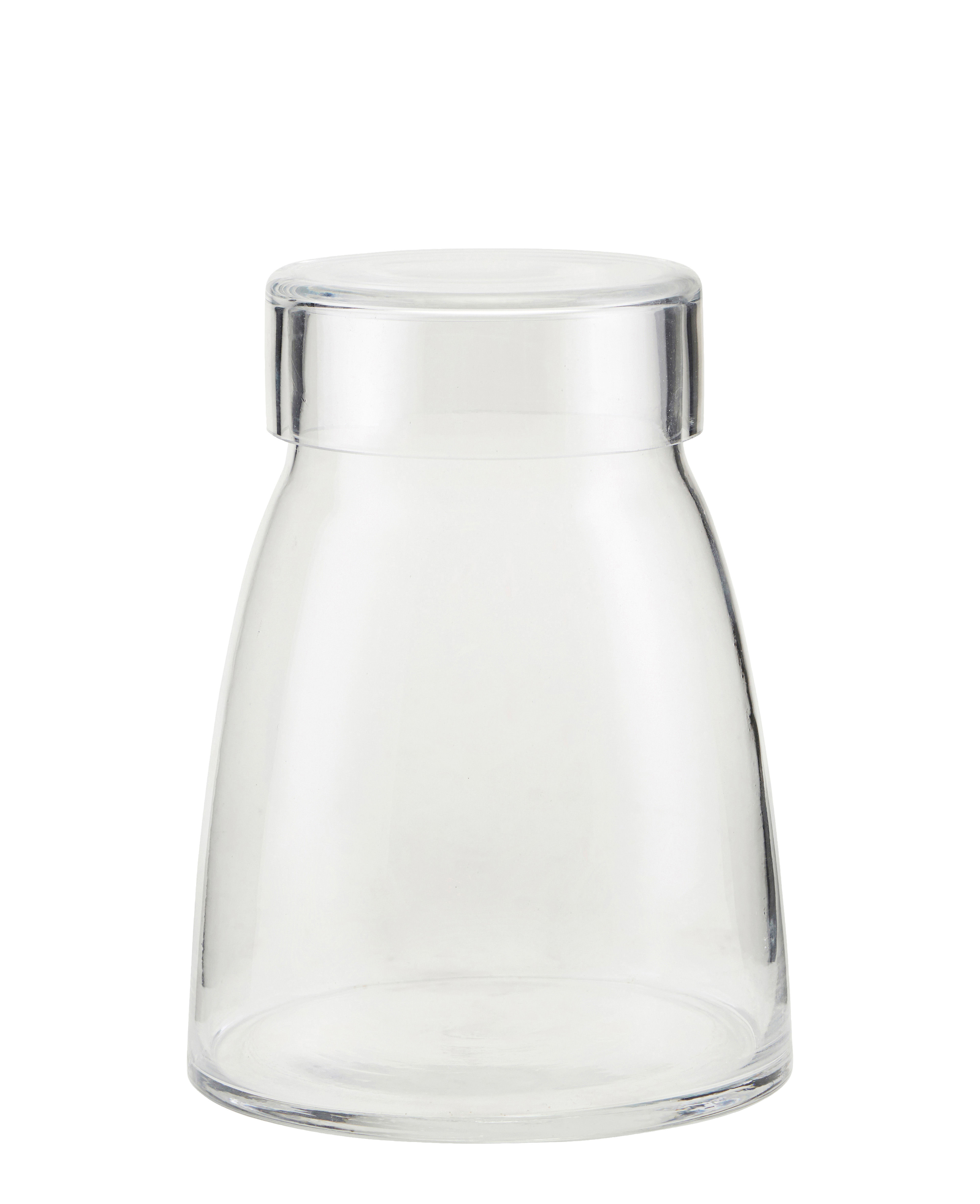 Decoration - Vases - Mazzo Jar - / Ø 14 x H 18 cm by House Doctor - Transparent - Glass
