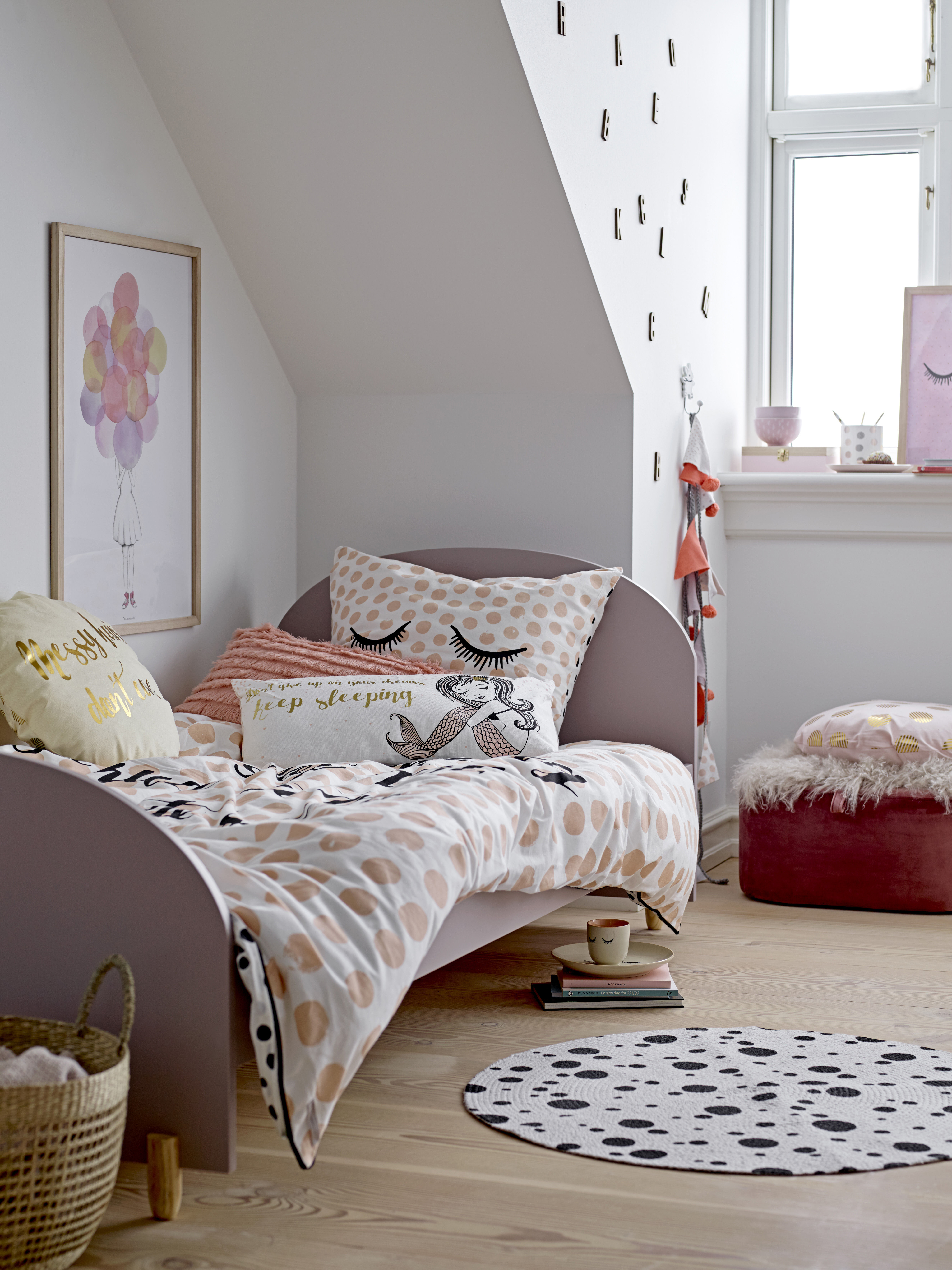 Nuage Kinderbett Taupe Holz By Bloomingville Made In Design