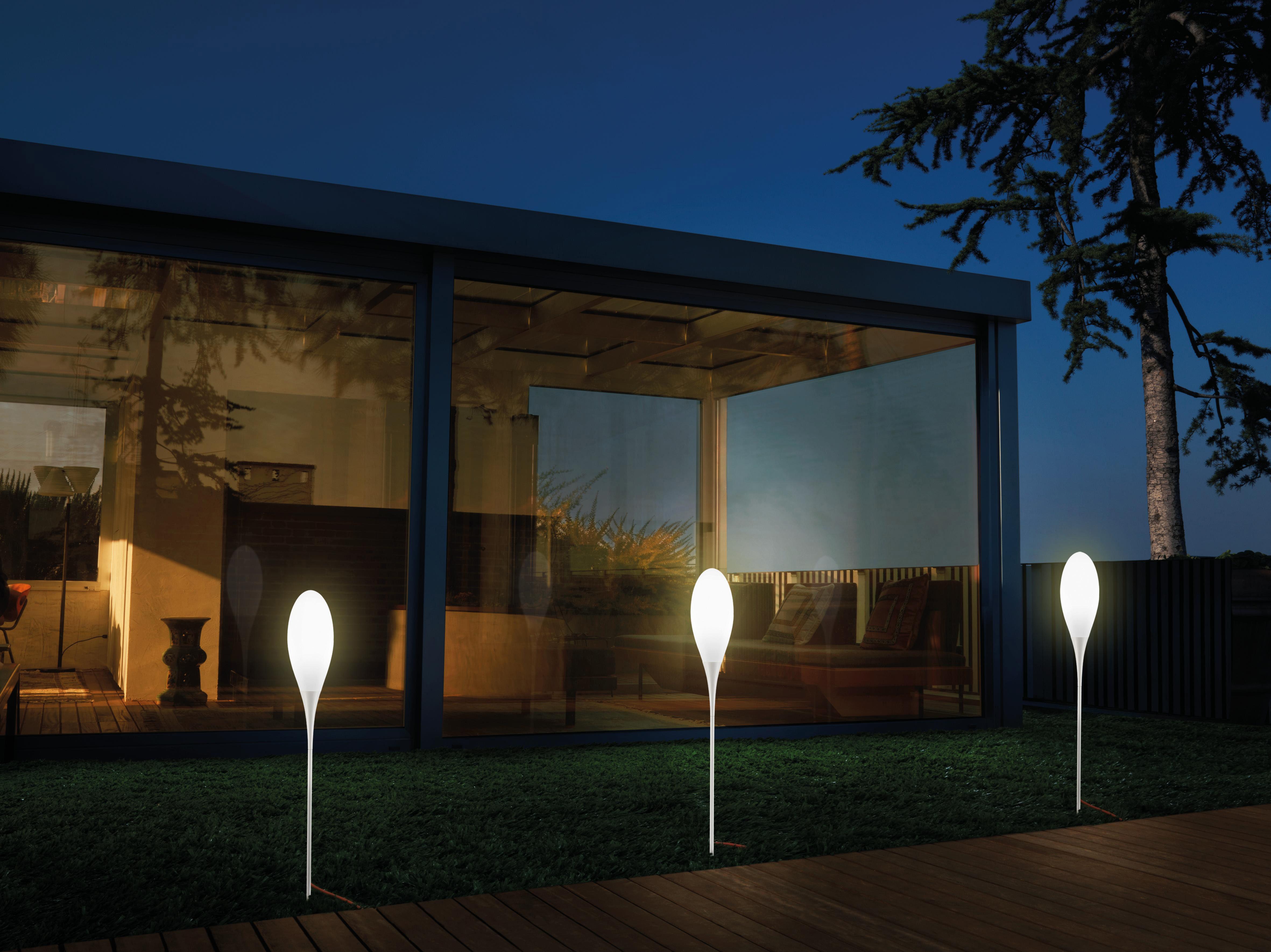 Spillo lampada a stelo da esterno bianco per lesterno by