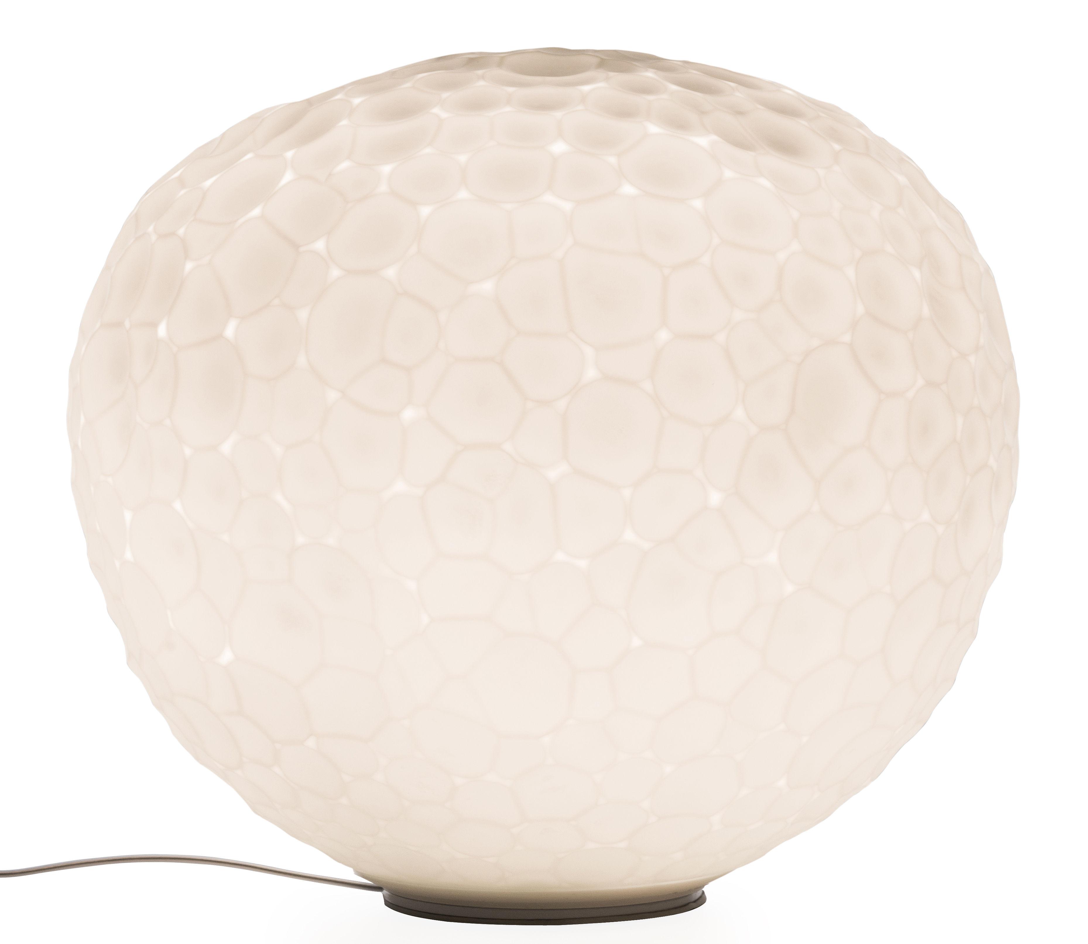 Luminaire - Lampes de table - Lampe de table Meteorite / Ø 35 cm - Artemide - Blanc - Verre soufflé