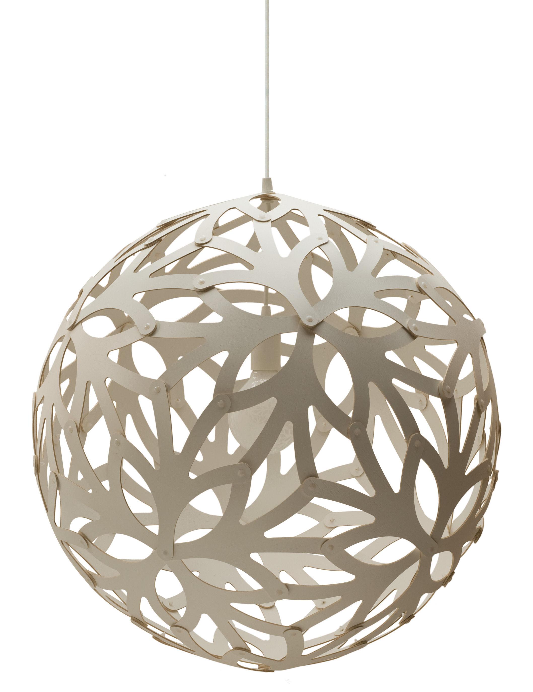 Leuchten - Pendelleuchten - Floral Pendelleuchte Ø 60 cm - Weiß - Exklusiv - David Trubridge - Weiß - Kiefer