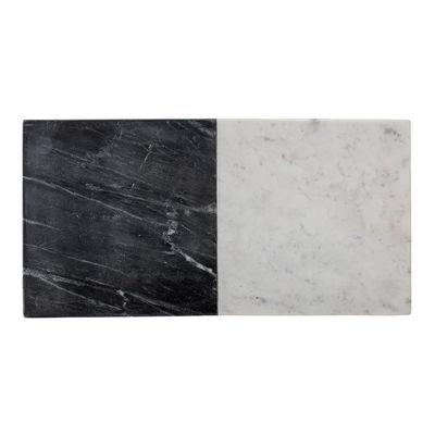 Arts de la table - Plats - Planche à découper Elvia / 45,5 x 23 cm - Marbre - Bloomingville - Blanc & noir - Marbre