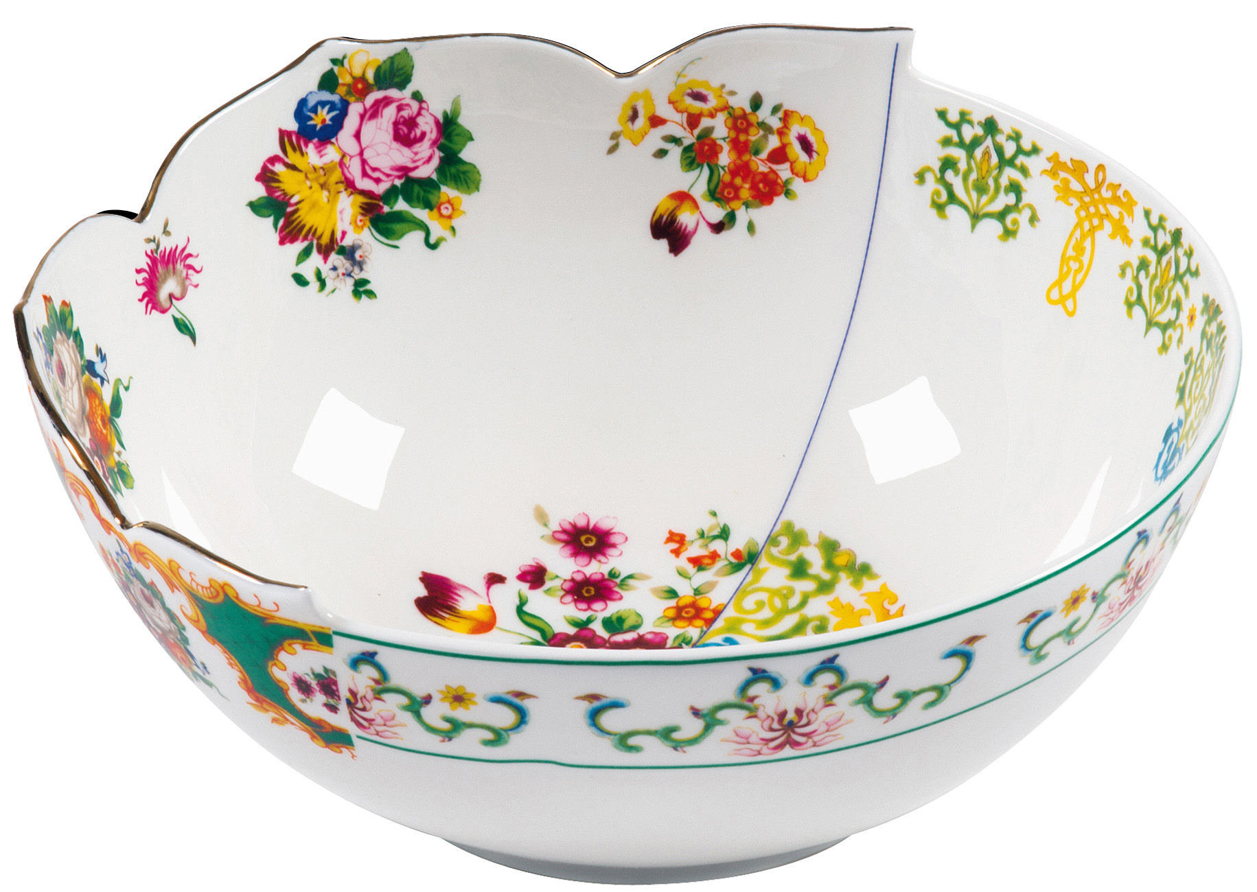 Tischkultur - Salatschüsseln und Schalen - Hybrid - Zaira Salatschüssel Ø 22,5 cm - Seletti - Zaira - Ø 22,5 cm - Porzellan