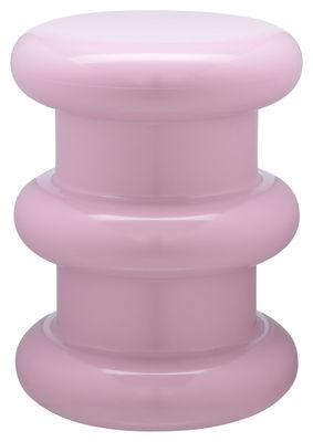 Arredamento - Sgabelli - Sgabello Pilastro / H 46 x Ø 35 cm - By Ettore Sottsass - Kartell - Rosa - Tecnopolimero termoplastico colorato in massa