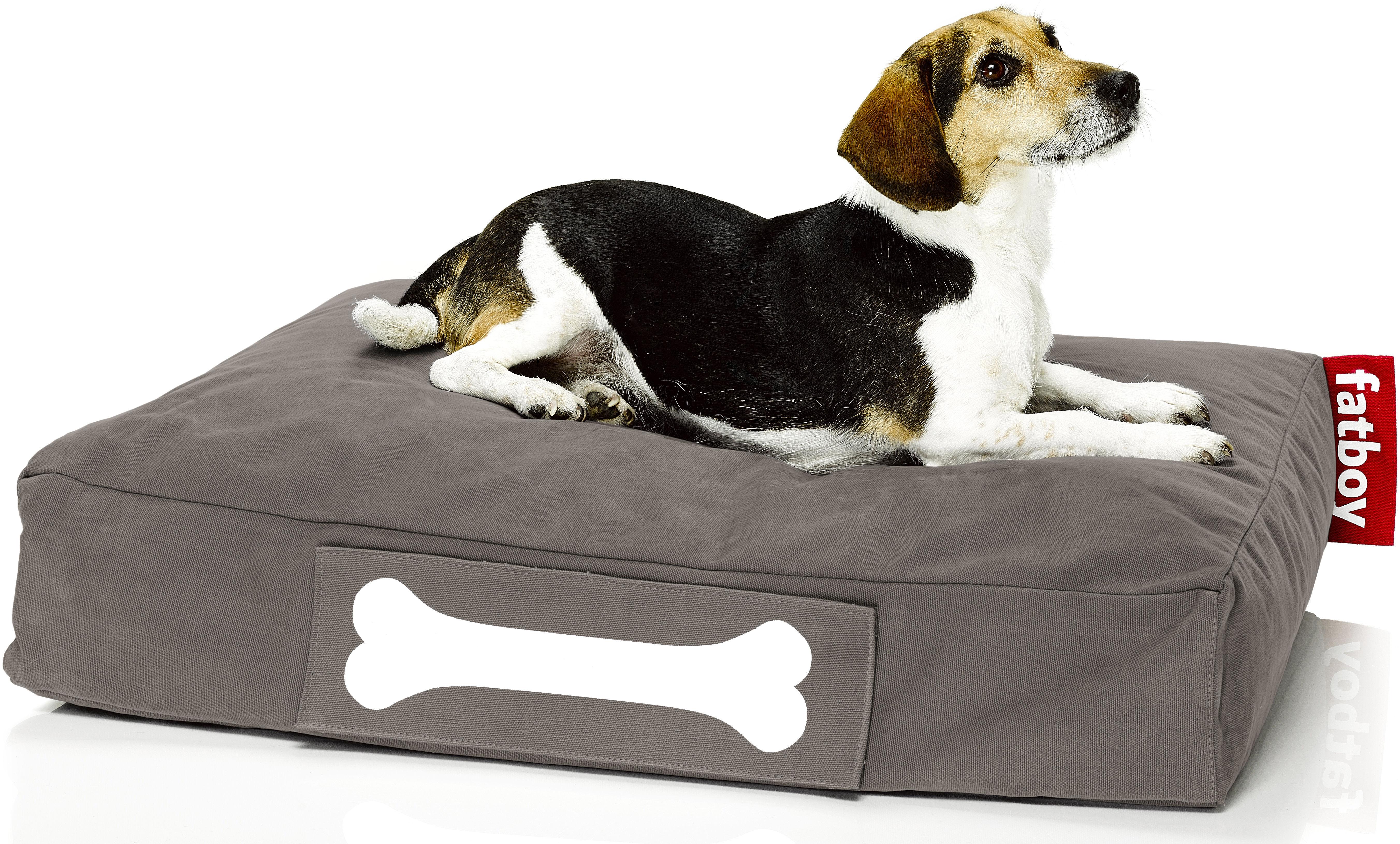 Möbel - Sitzkissen - Doggielounge Stonewashed Sitzkissen / Small - Fatboy - Taupe - Baumwolle