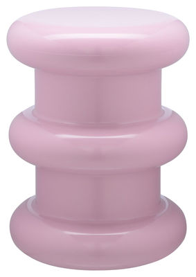 Furniture - Stools - Pilastro Stool - H 46 x Ø 35 cm - By Ettore Sottsass by Kartell - Pink - Thermoplastic