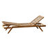Synthesis Sun lounger - / Teak & rope - Multiposition by Unopiu