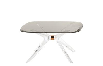 Table basse Blast / Verre - 80 x 80 cm - Kartell bronze,transparent,gris fumé en verre