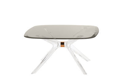 Table basse Blast / Verre - 80 x 80 cm - Kartell gris/transparent en verre/matière plastique