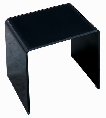 Table basse Curvi 3 L 62 cm - Glas Italia noir laqué en verre