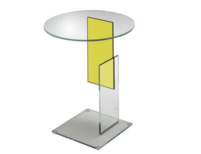 Table basse Don Gerrit - Glas Italia jaune,transparent en verre