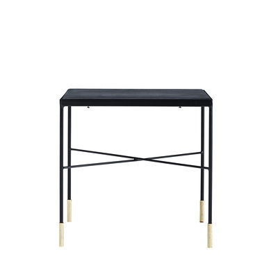 Table basse OX / 40 x 40 x H 40 cm - House Doctor noir / laiton en métal