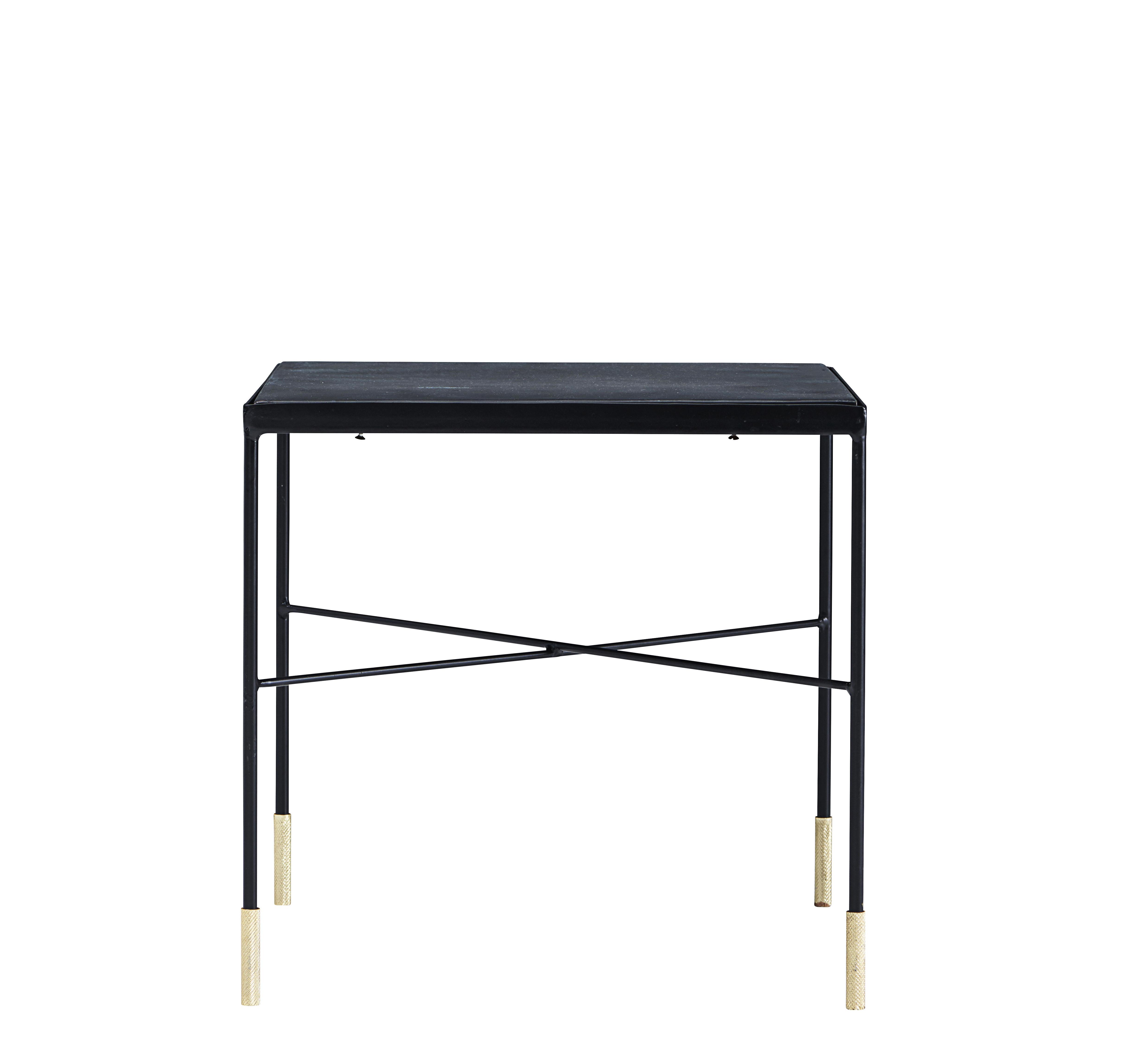 Mobilier - Tables basses - Table basse OX / 40 x 40 x H 40 cm - House Doctor - Noir oxydé / Laiton - Fer
