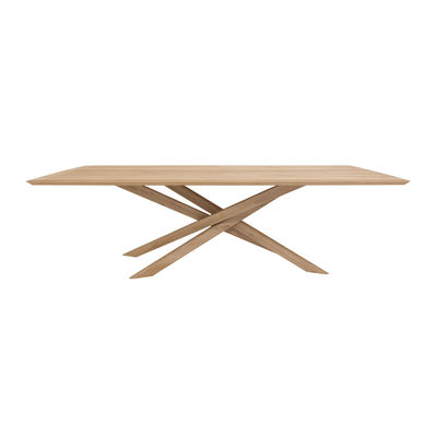 Mobilier - Tables - Table rectangulaire Mikado / Chêne massif - 240 x 110 cm / 10 personnes - Ethnicraft - 240 x 110 cm / Chêne - Chêne massif