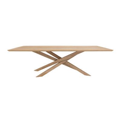 Table rectangulaire Mikado / Chêne massif - 240 x 110 cm / 10 personnes - Ethnicraft bois naturel en bois