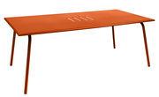 Table rectangulaire Monceau 194 x 94 cm 8 personnes Fermob carotte en métal