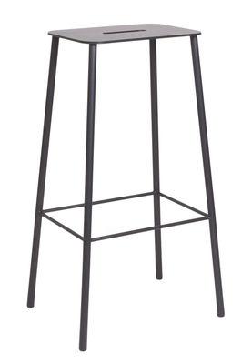 Tabouret haut Adam Outdoor / H 76 cm - Frama noir en métal