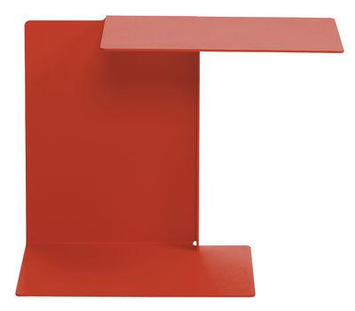 Image of Tavolino d'appoggio Diana A di ClassiCon - Rosso corallo - Metallo
