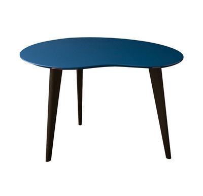 Arredamento - Tavolini  - Tavolino Lalinde Small - fagiolo / L 63cm / Gambe nere di Sentou Edition - Blu / Gambe Nere - MDF laccato, Rovere laccato