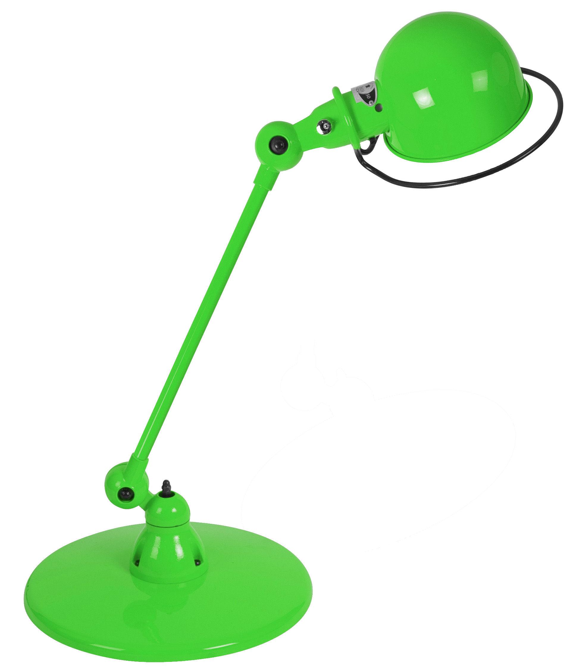 Leuchten - Tischleuchten - Loft Tischleuchte / mit Gelenkarm - L 60 cm - Jieldé - Apfelgrün, glänzend - rostfreier Stahl