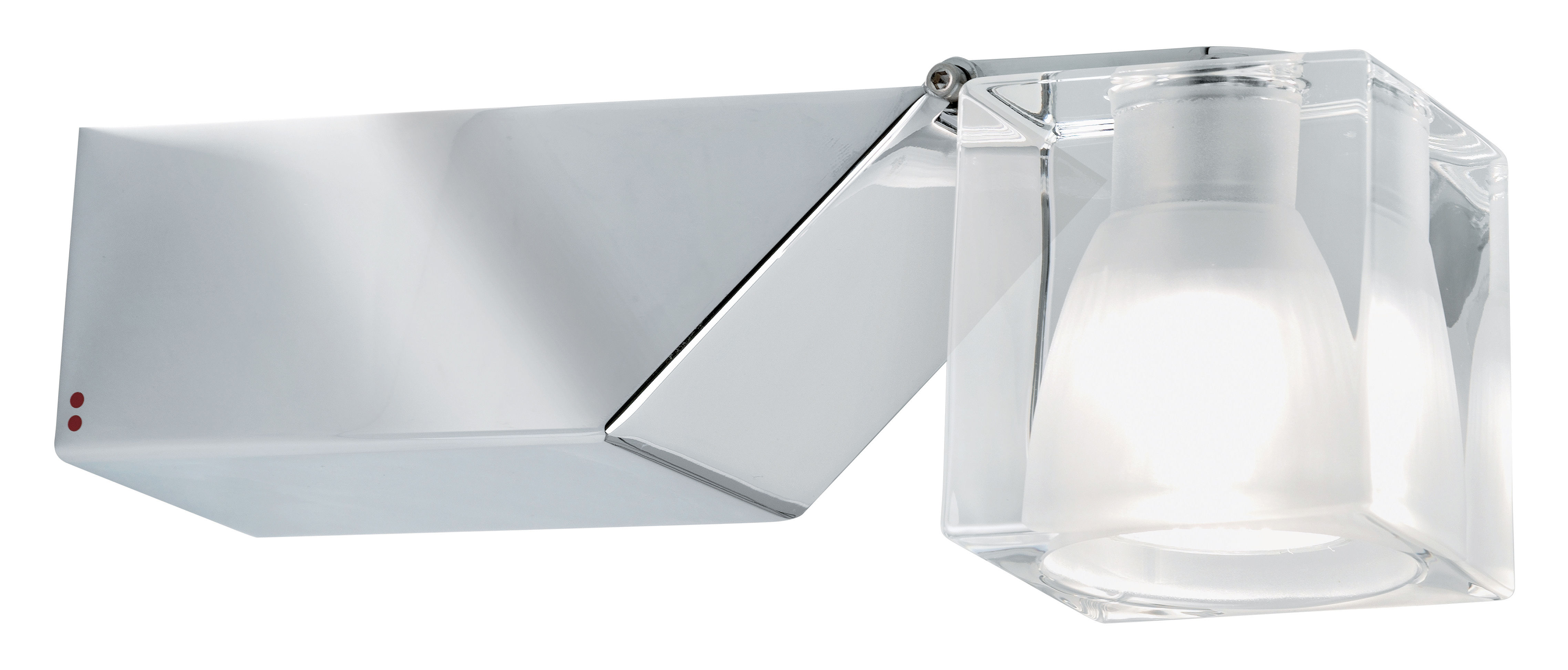 Lighting - Wall Lights - Cubetto - Crystal Glass Wall light - Swiveling by Fabbian - Transparent - Chromed metal, Glass