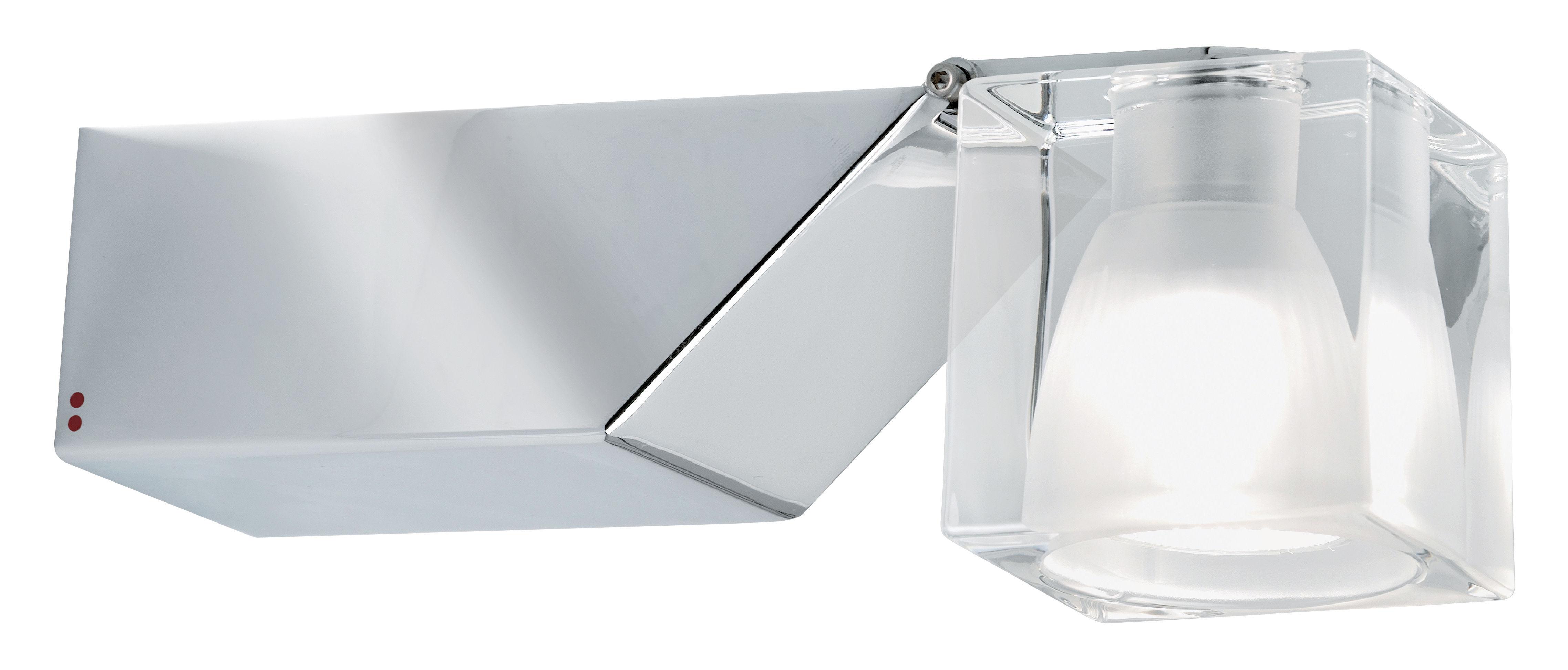 Leuchten - Wandleuchten - Cubetto - Crystal Glass Wandleuchte schwenkbar - Fabbian - Transparent - Glas, verchromtes Metall