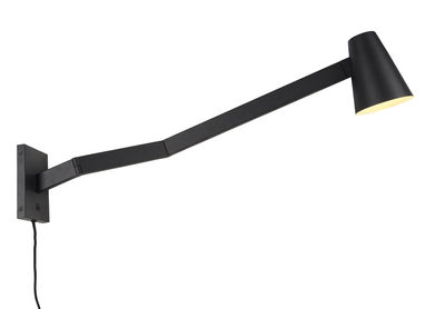 Applique avec prise Biarritz / Orientable - L 88 cm - It´s about Romi noir en métal