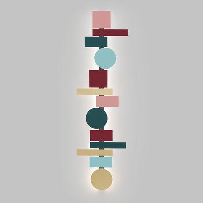 Applique Totem LED / L 200 cm - 13 formes aimantées - Pallucco multicolore en métal