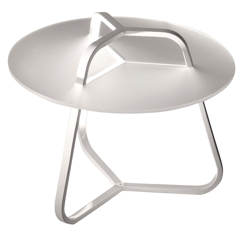 Möbel - Couchtische - Toy Beistelltisch leuchtend / Beistelltisch - H 50 cm - Martinelli Luce - Weiß - Aluminium, Methacrylate, Polykarbonat