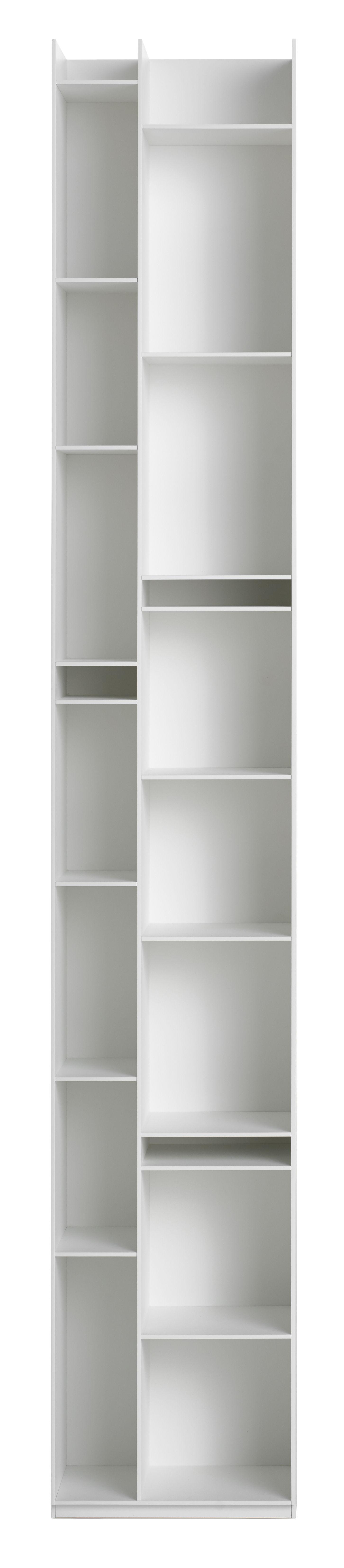 Mobilier - Etagères & bibliothèques - Bibliothèque Random 2C / L 36 x H 217 cm - MDF Italia - Blanc - Fibre de bois