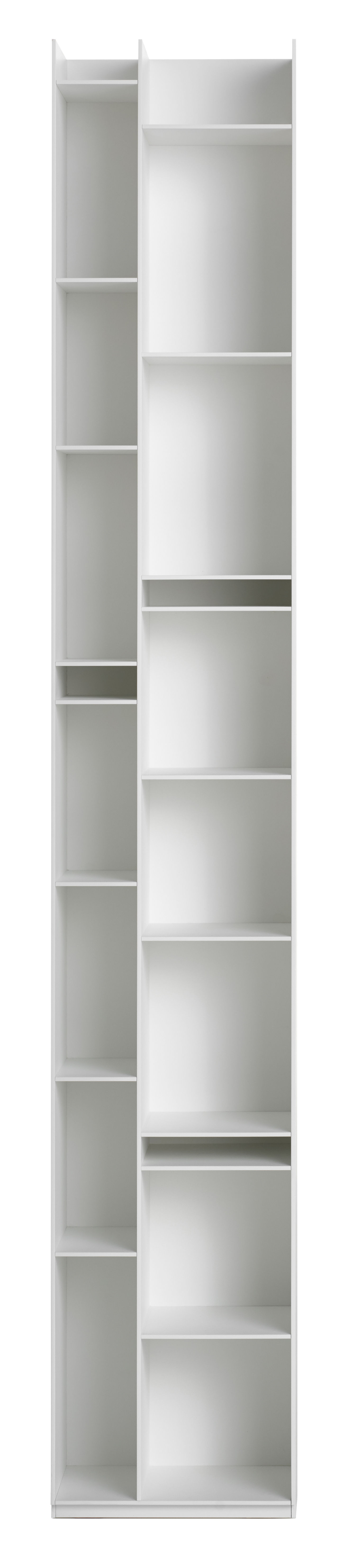 Furniture - Bookcases & Bookshelves - Random 2C Bookcase - L 36 x H 217 cm by MDF Italia - White - Wood fibre